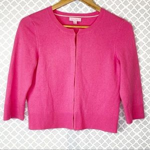 EUC Lilly Pulitzer Pink Cashmere Cropped Cardigan